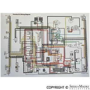 image is loading full-color-wiring-diagram-porsche-912-3-gauge-