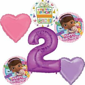 Doc-McStuffins-Party-Supplies-2nd-Birthday-Balloon-Bouquet-Decorations