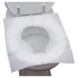 10 Disposable Toilet Seat Covers Hygienic Flushable Travel Camping Pocket Size