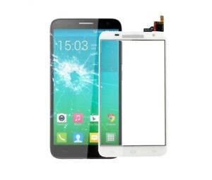 Kristall Touch Mit Digitalisierer Für Alcatel One Touch Idol 2S Ot 6050 Weiß