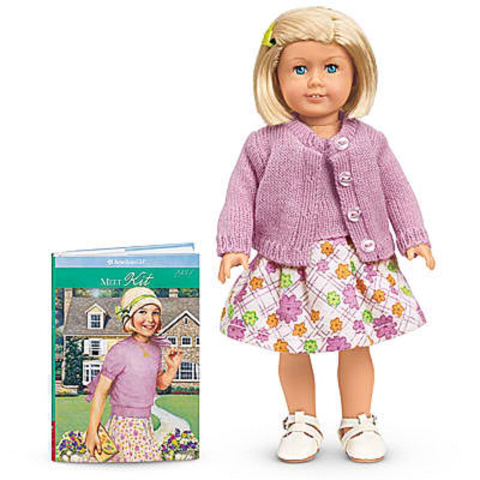 American Girl SETS Mini Puppe 15.2cm + Buch Neu in Karton Blond Set Kleid