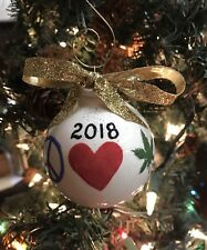 personalized engraved glass christmas ornament marijuana leaf weed pot for sale online ebay marijuana leaf weed pot