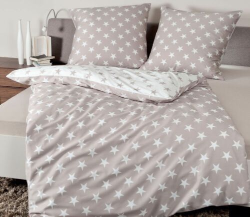 8460-07 calidad superior marrón Taupe Janine ropa de cama estrellas Mako satén j.d