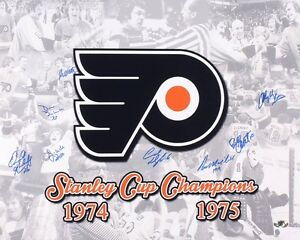1974-75 PHILADELPHIA FLYERS SIGNED 16x20 PHOTO (8 SIGS) - Stanley ... 7388ffcd7