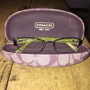 2635c00a09 ... ireland image is loading coach eyeglasses frames tortoise brown  exterior green coach ea950 5a6a7