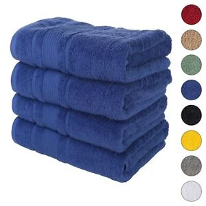 NEW NAVY BLUE Color ULTRA SUPER SOFT LUXURY PURE TURKISH 100% COTTON BATH TOWELS