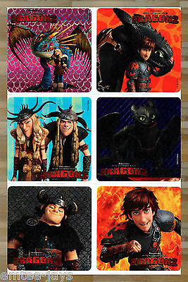 How to Train Your Dragon 2 Stickers x 6 - Birthday Party Supplies - Loot Bags