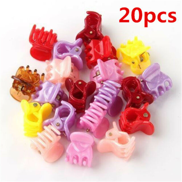 x10 Assorted Mini Small Clips Claws Clamps Wedding Party rose Hair Accessories