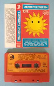 MC-Musicassetta-Compilation-CANZONI-PER-L-039-ESTATE-1986-franco-califano-depeche
