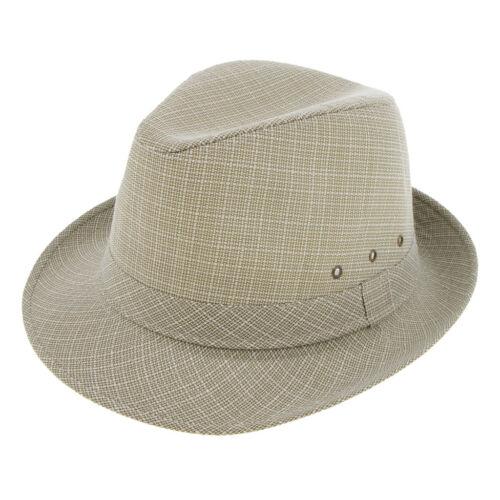 Retro Men Women Linen Hat Short Brim Fedora Trilby Panama Hat Gangster Cap