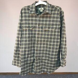 Men-039-s-Vintage-Woolrich-Heavy-Cotton-Flannel-Button-Up-Shirt-Size-Large