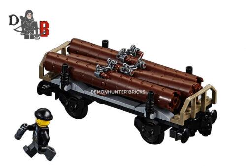 Lego City Cargo Train 60198 Log Wagon//transport uniquement pas de sous tension