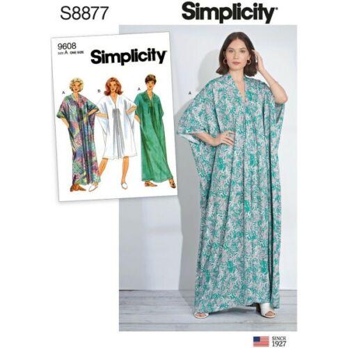 Simplicity Sewing Pattern 8877 un tamaño de misses Caftán Poncho De Gran Tamaño