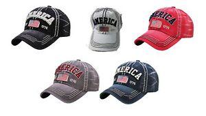 Vintage-Distressed-AMERICA-1776-Hat-Baseball-Cap-KBETHOS-Pick-a-Color