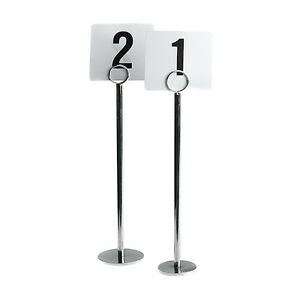 NEW High Quality Stainless Steel Table Number Stands Set Of - Stainless steel table numbers