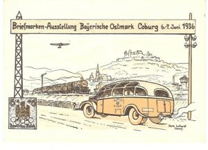 ALLEMAGNE-DEUTSCHLAND-BUS-AUTOBUS-TRAIN-ZUG-TRENO-AVION-PLANE-BAYERN-COBURG