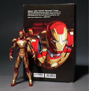 The-Avengers-Age-of-Ultron-Iron-Man-7-034-18cm-Mark-42-PVC-Action-Figure-NEW