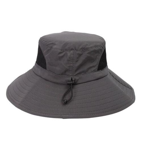 Imperméable CACHOU Chapeau Large Bord Chapeau de pêche Sun Mesh net hat cap Adapt