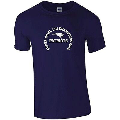 New England Patriots Super Bowl Champions 2019 T-shirt Logo-