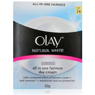 Olay natural White Rich Fairness Day Cream Moisturizer And Sun Protection 24Spf
