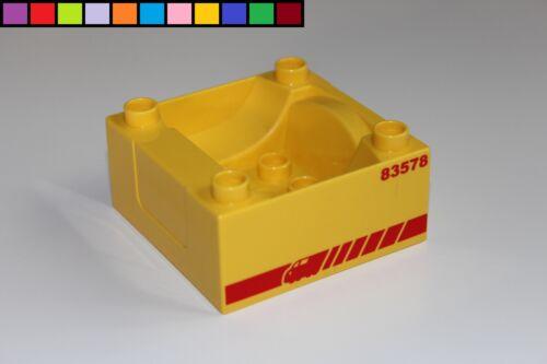 Unterteil Kabine Aufsatz Anhänger gelb rot Eisenbahn Lego Duplo