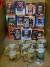 Budweiser bud Holiday Christmas Steins set 1980 - 2006  27 steins new in box lot