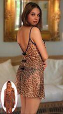 51e6e0923be item 7 PLUS SIZE Black Red Leopard print chiffon chemise 1X 2X 3X 4X 5X  lingerie T5515 -PLUS SIZE Black Red Leopard print chiffon chemise 1X 2X 3X  4X 5X ...