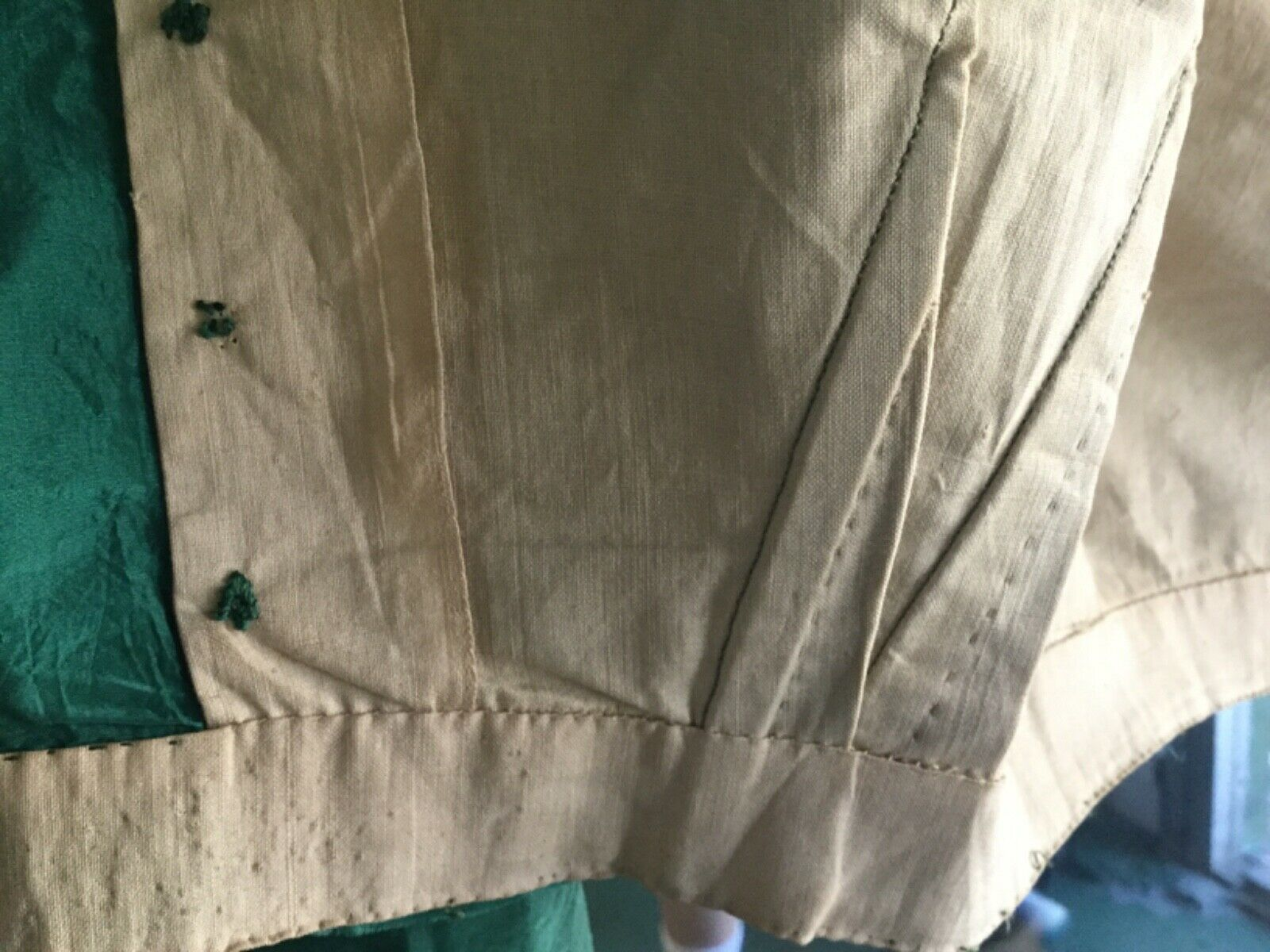 Antique Victorian1860s Green Bodice Blouse  - image 10