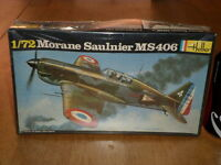 WW#2,FRENCH- MORANE SAULNIER MS 406, Fighter Plane, Plastic Model Kit,Scale 1/72