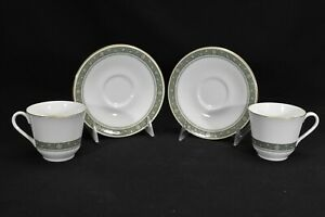 Royal-Doulton-Rondelay-H5004-Pair-of-Cups-amp-Saucers