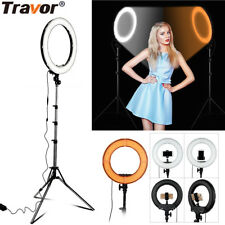 Studio LED 55W 18 INCH Photo Video Ring Light + Camera iPhone Holder + Stand UK
