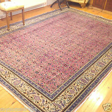 Rose Dyes Ca1900-1939s Antique 8x11 Wool Pile Turkish Hereke Rug