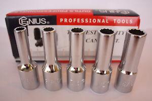 "Genius Tools 3//8/"" Drive SAE Hand Socket 12 pt"