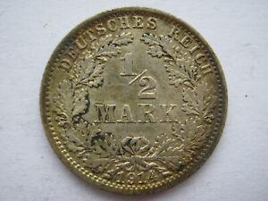 Germany-1914-A-silver-1-2-Mark-VF