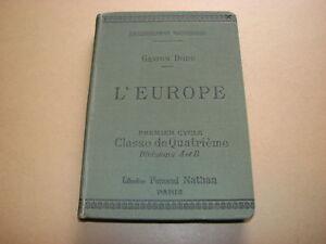 L-039-Europe-Classe-de-Quatrieme-Gaston-Dodu-1909-Fernand-Nathan