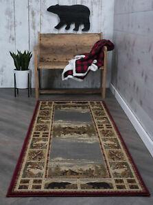 Cabin-Lodge-bear-deer-hall-runner-for-the-home-30-x-7-1-2-feet-long