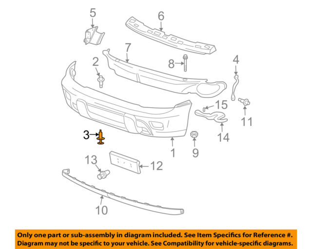 CHRYSLER OEM Front Bumper-Cover Retainer Clip or Bracket Right 5113136AA