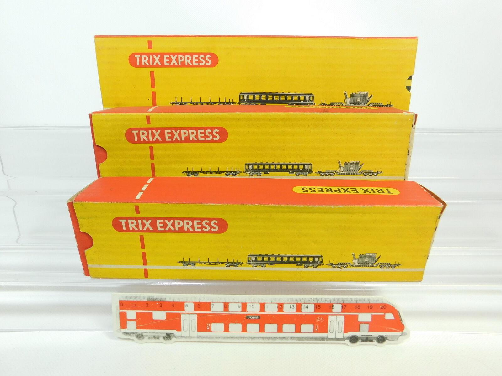 BQ83-0, 5 x Trix Express H0 Empty Box for Freight Car  499+3479+3480