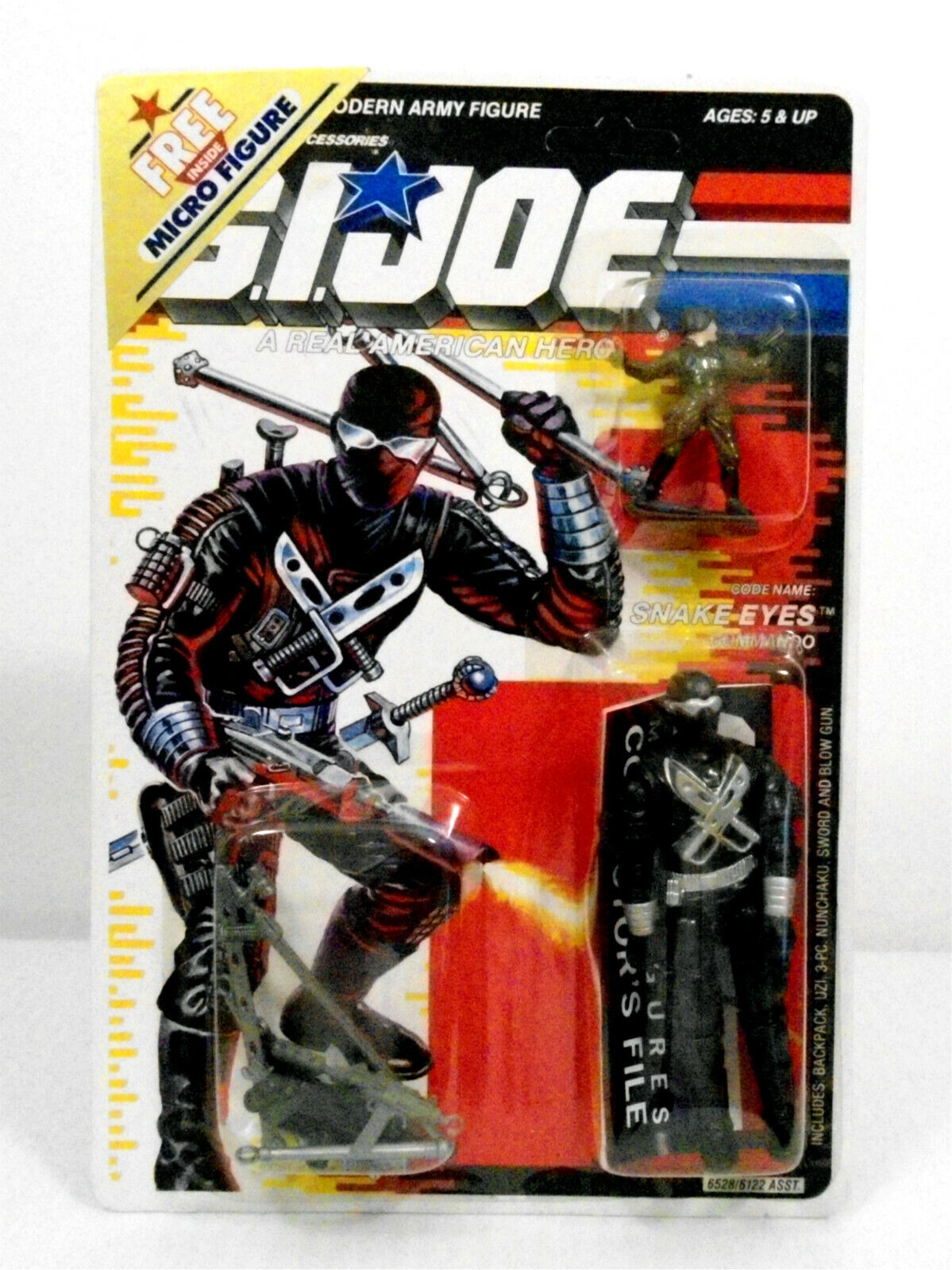 GI Joe Snake Eyes Ver. 3 Action Figure Duke Micro Fig + 2 offre non perforé Carte