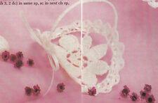 Crochet Pattern ~ Wedding Cake Basket, Brides Slipper, Bells ~ Instructions