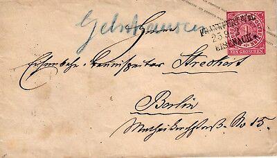 Brief Aus Gelnhausen Nach Berlin, Bahnkursstempel Frankfurt-eisenach, 1868