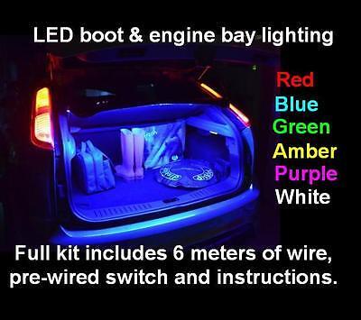 Led Car Boot Engine Bay Lighting Kit Vauxhall Vxr Corsa C D Irmscher Sxi Sri Ebay
