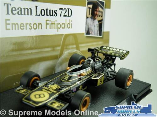 EMERSON FITTIPALDI TEAM LOTUS 72D AUTO MODELLO FORMULA 1 RACING 1:43 Taglia Unica T34Q