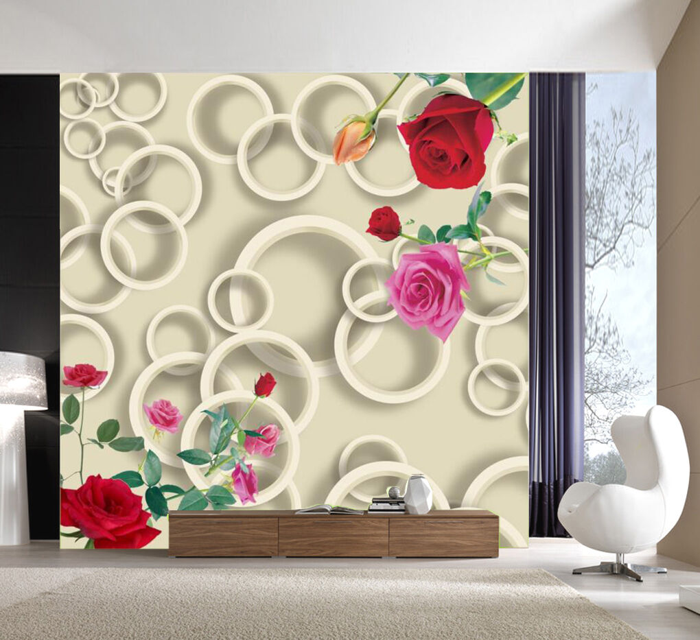 3D rose Garden 232 Wall Paper Wall Print Decal Wall Deco Indoor Wall Murals