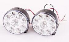 2PCS 9 LED Round Daytime Running Driving Light DRL Car Fog Lamp Head Light White