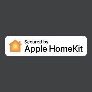 """Secured by Apple HomeKit"" window decal sticker home alarm"