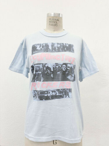 ⭕ 90s Vintage Acupuncture London T-shirt : rave pu