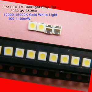 100PCS 3535 White SMD Lamp Beads 3V Specially for LED TV Backlight Strip