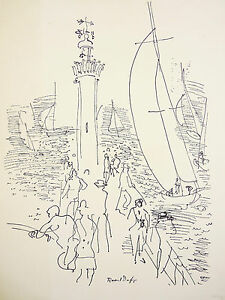 Raoul-DUFY-1877-1953-Old-Litho-Museo-Edition-N-46-Fauvismo-Fauvismus-Marino