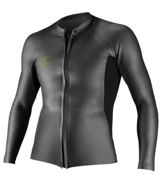 O /'Neill o/'riginal 2mm Posteriore Con Zip Short John Muta Nero Neoprene UltraFlex DS